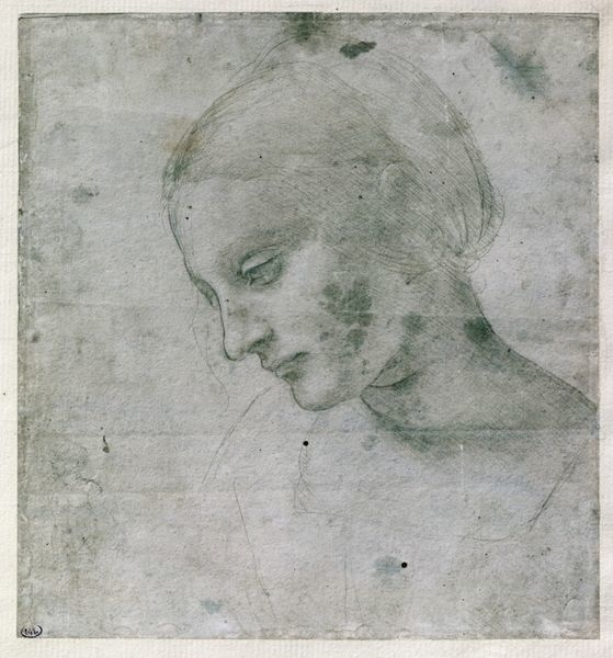 XIR192492 Head of a Young Woman or Head of the Virgin, c