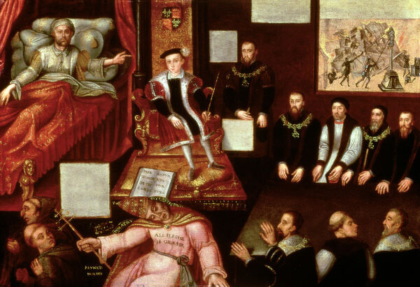 XCF99911 King Edward VI (1537-53) and the Pope, c