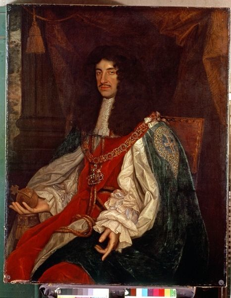 BAL99916 Portrait of Charles II (1630-85) c.1660-65 (oil on canvas) by Wright, John Michael (1617-94) (studio of); 126.4x101 cm; National Portrait Gallery, London, UK; English, out of copyright