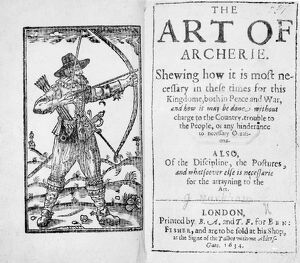 Frontispiece to 'The Art of Archerie', 1634 (engraving)