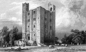 Hedingham Castle, Essex, engraved by John Carr Armytage, 1832 (engraving)