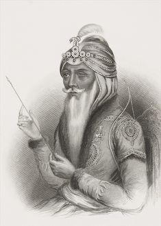 Maharaja Ranjit Singh, from 'Gallery of Historical Portraits', published c
