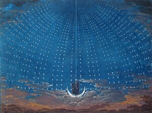 The Palace of the Queen of the Night, set design for 'The Magic Flute' by