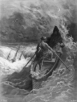 The Pilot faints, scene from 'The Rime of the Ancient Mariner' by S.T. Coleridge