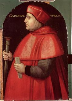 Portrait of Cardinal Thomas Wolsey (c.1475-1530) (oil on panel)