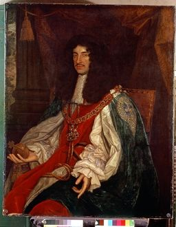 Portrait of Charles II (1630-85) c.1660-65 (oil on canvas)