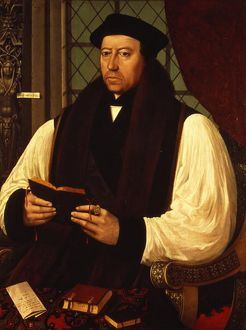 Portrait of Thomas Cranmer (1489-1556) 1546 (oil on panel)