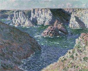 The Rocks of Belle Ile, 1886 (oil on canvas)
